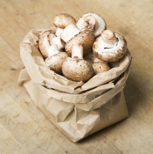 Store Mushrooms in a Paper Bag - 40 DIY Tricks To Make Your Groceries Last As Long As Possible
