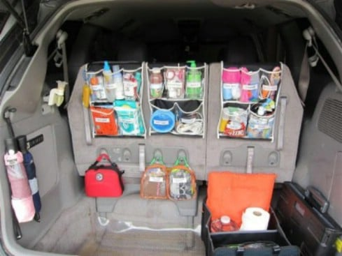 Via U2013 Diyncrafts Use Shower Caddies   20 Easy DIY Ideas And Tips For A  Perfectly Organized Car