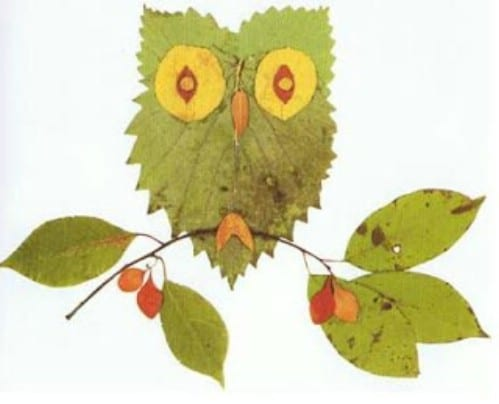 Image result for crafts to make with autumn leaves