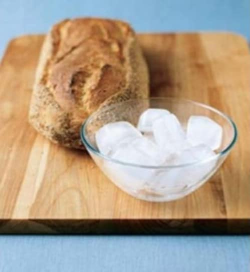 Use Ice on Stale Bread - 40 DIY Tricks To Make Your Groceries Last As Long As Possible