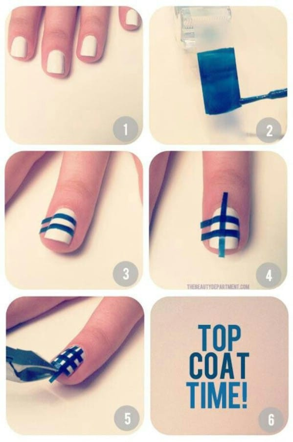 40 diy beauty hacks that are borderline genius page 5 of 5 diy easy gingham check nails 40 diy beauty hacks that are borderline genius prinsesfo Choice Image