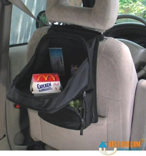 20 easy diy ideas and tips for a perfectly organized car Ideas for hanging backpacks