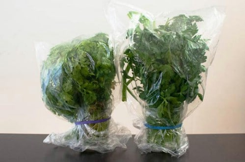 Store Herbs in Plastic - 40 DIY Tricks To Make Your Groceries Last As Long As Possible