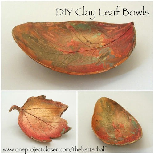 Autumn Leaf Bowls - 15 Fabulous Fall Leaf Crafts for Kids