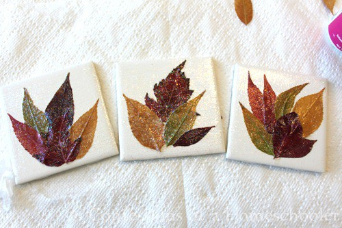 Leaf Coasters - 15 Fabulous Fall Leaf Crafts for Kids