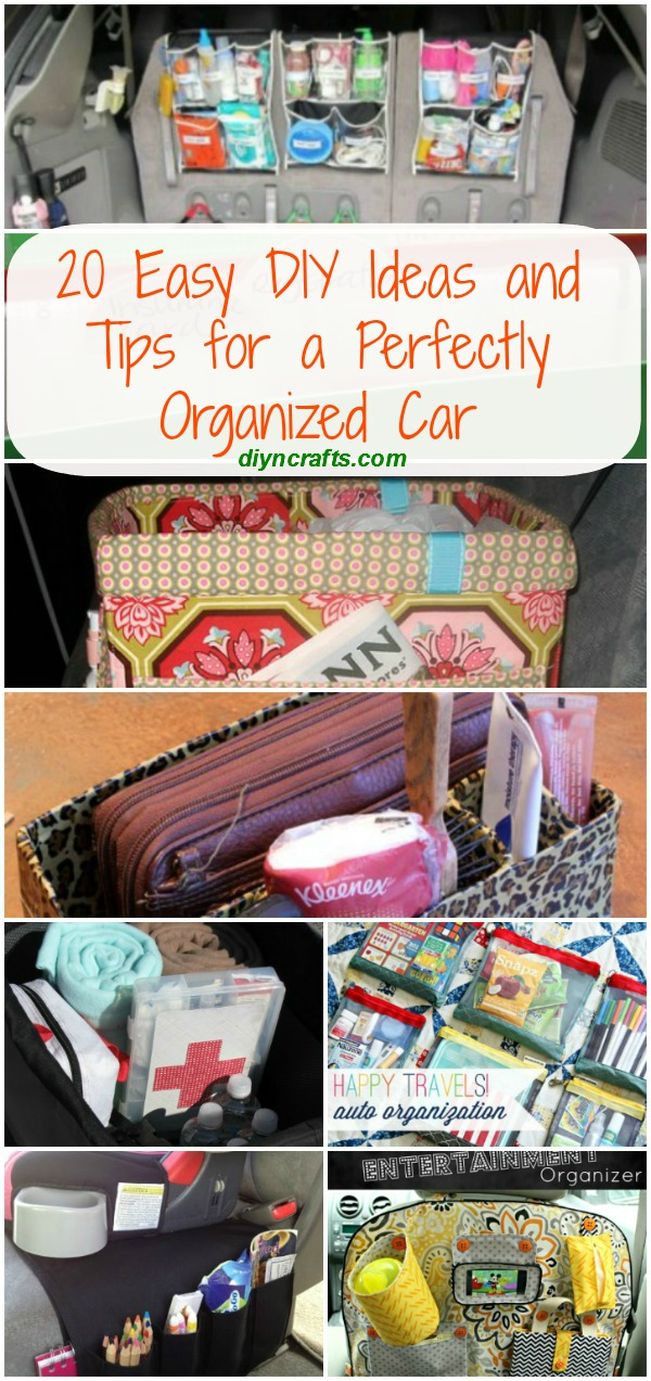20 Easy DIY Ideas and Tips for a Perfectly Organized Car - Very good ideas!!