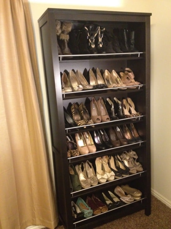 10 clever and easy ways to organize your shoes diy crafts ikea bookcase turned shoe organizer solutioingenieria Choice Image