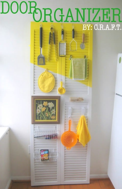 Make Storage from an Old Closet Door - 20 of the Most Adorable DIY Kitchen Projects You've Ever Seen