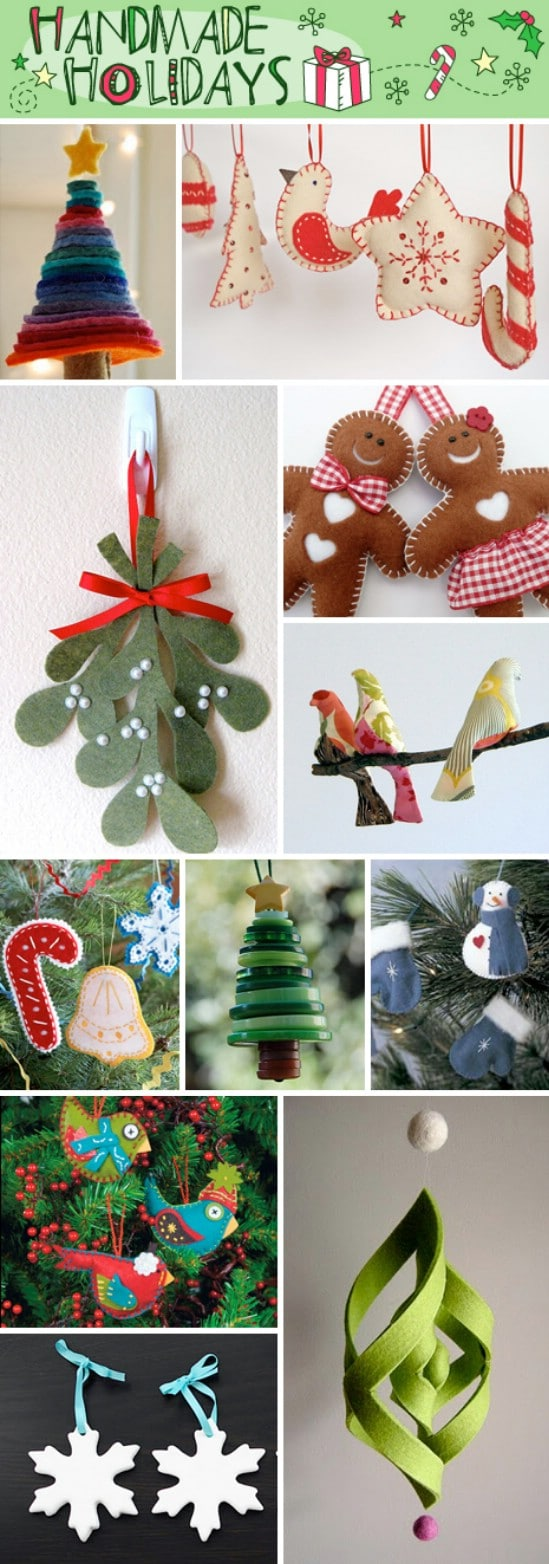 15 easy and festive diy christmas ornaments diy crafts for Easy home made christmas decorations