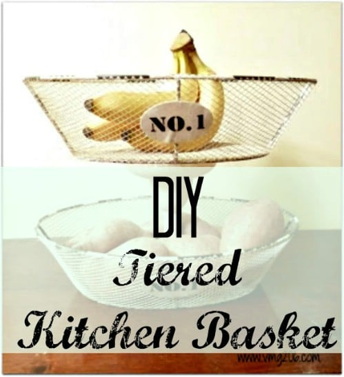 DIY Tiered Baskets - 20 of the Most Adorable DIY Kitchen Projects You've Ever Seen