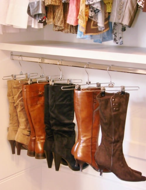 Boot Hangers - 20 Creative Ways to Organize and Decorate with Hangers