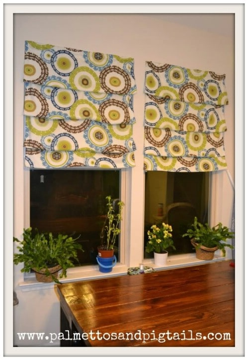 DIY Roman Shades - 20 of the Most Adorable DIY Kitchen Projects You've Ever Seen