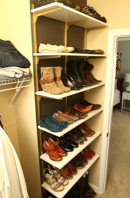 10 clever and easy ways to organize your shoes diy crafts turn shelves into organizers solutioingenieria Gallery