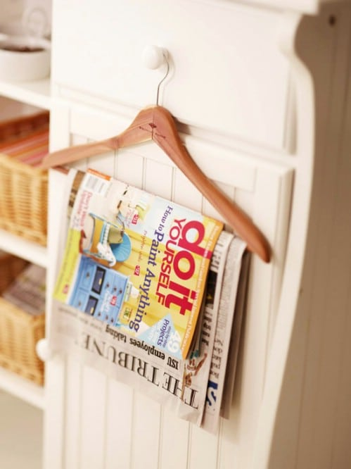 Magazine Holder - 20 Creative Ways to Organize and Decorate with Hangers