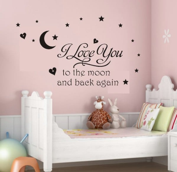 11 DIY Wall Quote Accent Inspirations That Will Beautify Your Home - To The Moon and Back