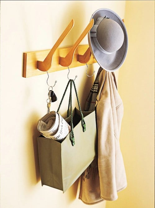 Wooden Hanger Coat Rack - 20 Creative Ways to Organize and Decorate with Hangers