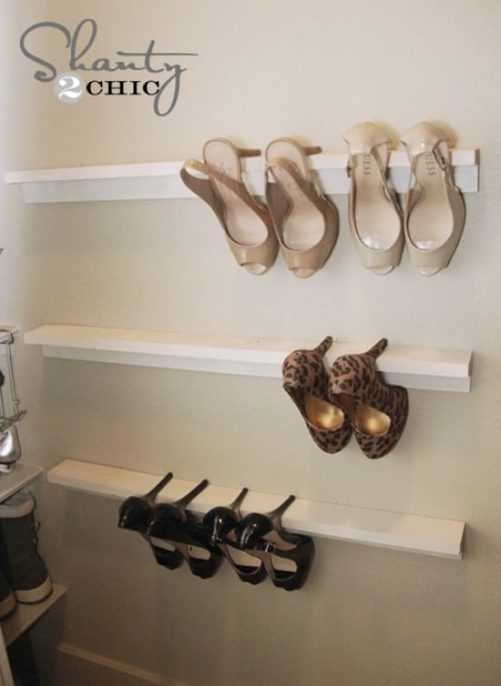 10 clever and easy ways to organize your shoes diy crafts hanging shoe storage solutioingenieria Choice Image