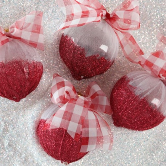 Shimmery Sweetness Ornaments