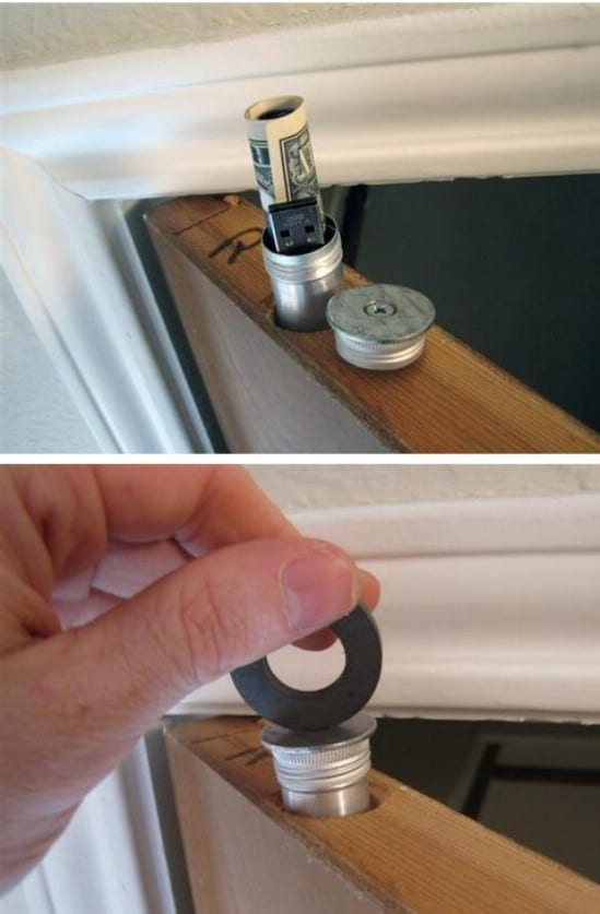 Stash Cash in the Door? - 15 Secret Hiding Places That Will Fool Even the Smartest Burglar