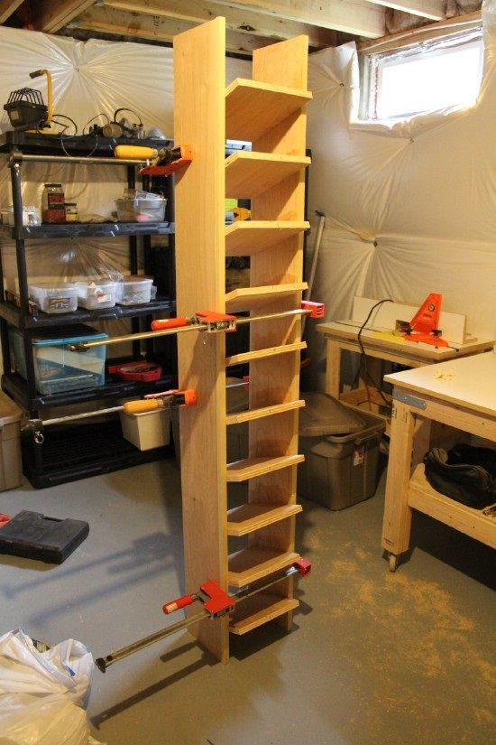 Captivating Build A Garage Shoe Storage System