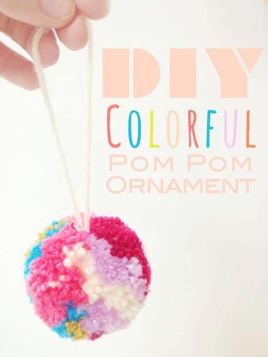 Pom Pom Yarn Ornaments