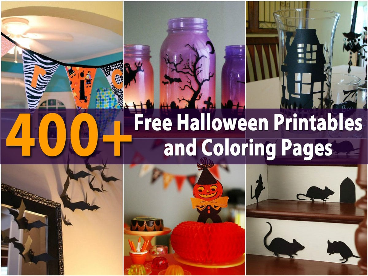 400 Free Halloween Printables And Coloring Pages Diy