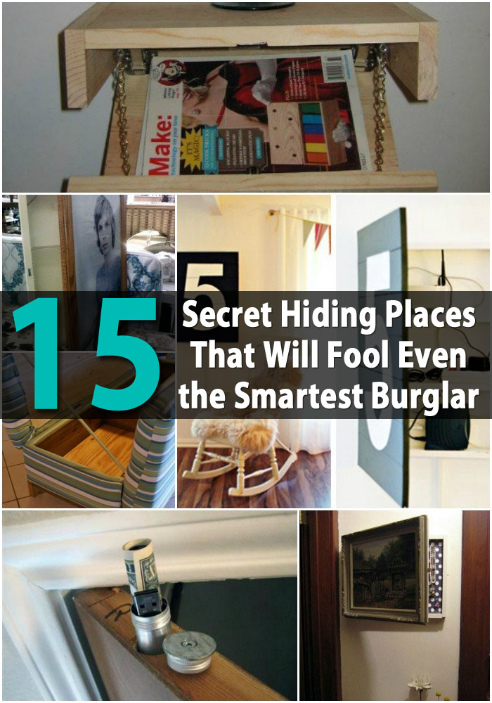 15 secret hiding places that will fool even the smartest for Diy crafts with things around the house