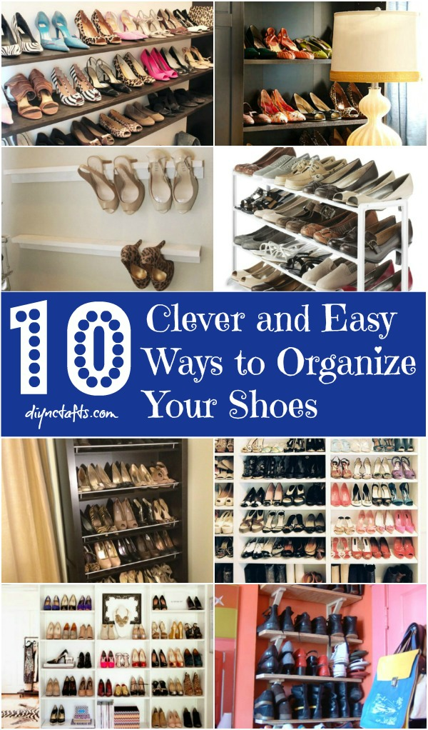 10 clever and easy ways to organize your shoes diy crafts 10 clever and easy ways to organize your shoes solutioingenieria Choice Image