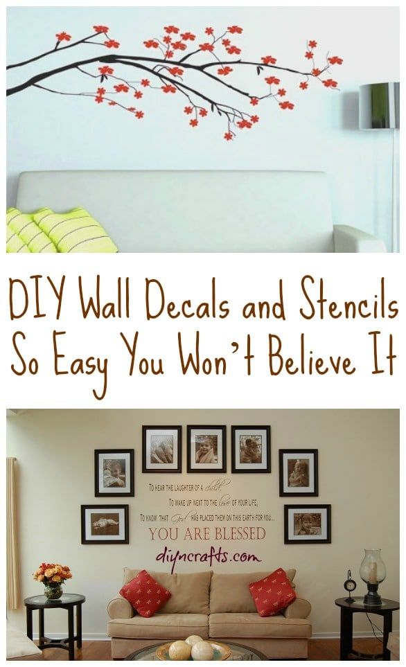 Diy wall decals and stencils so easy you wont believe it
