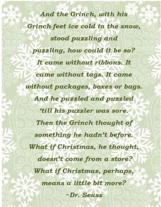 The Grinch Printable - Over 50 Creative Christmas Printables Collection