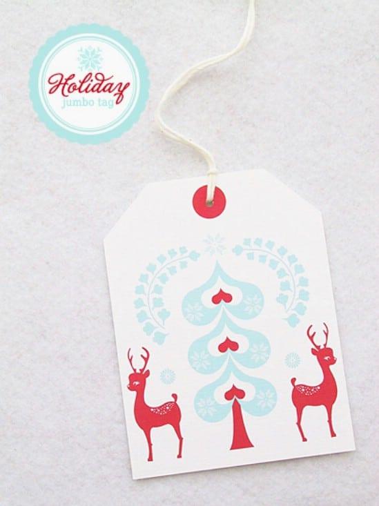 Jumbo Gift Tag - Over 50 Creative Christmas Printables Collection