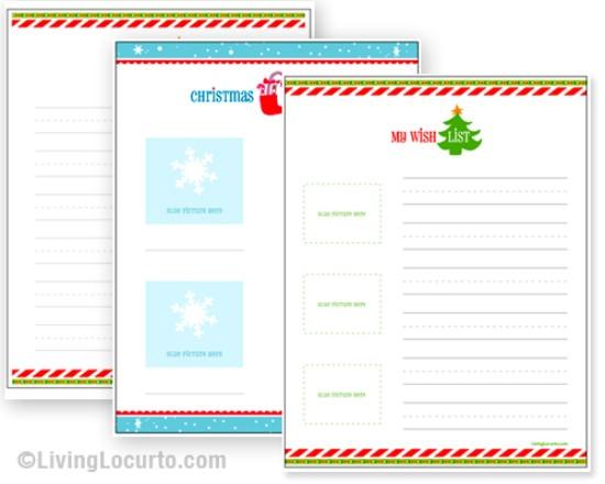 download the printable livinglocurto kids wish lists over 50 creative christmas printables collection