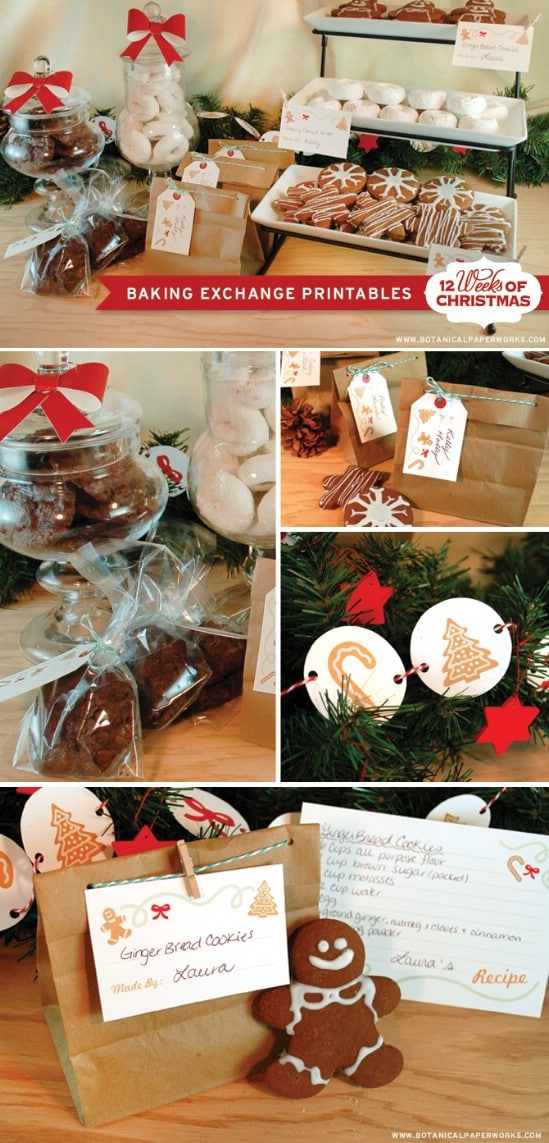 Christmas Party Baking Printablese - Over 50 Creative Christmas Printables Collection