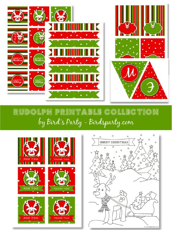 Christmas Party Pack - Over 50 Creative Christmas Printables Collection