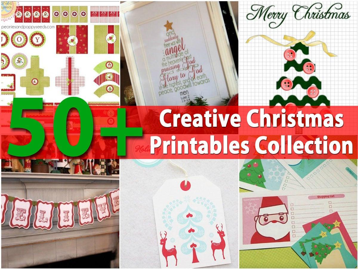 50+ Creative Christmas Printables Collection - DIY & Crafts