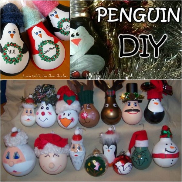 Fantastic DIY Light Bulb Christmas Ornaments