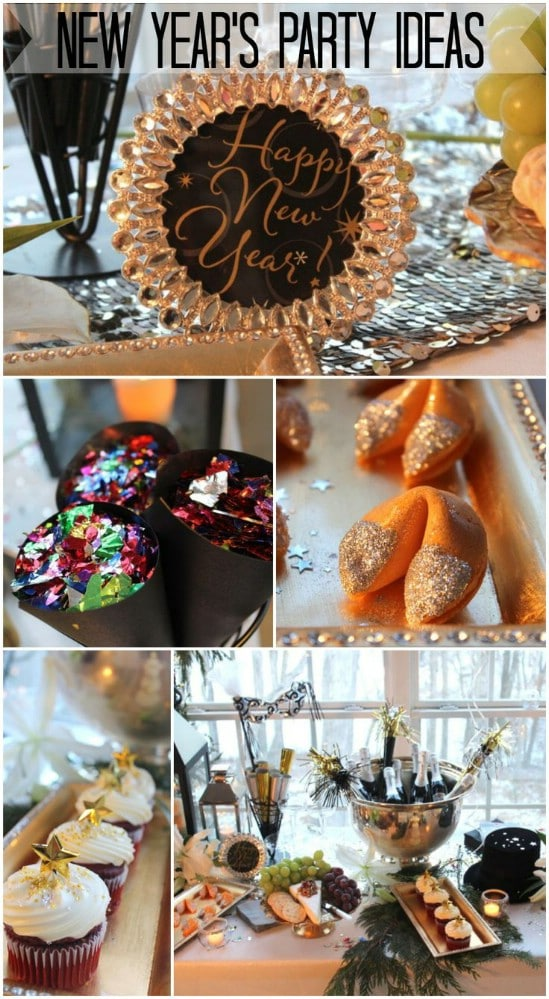 Classic Hats and Champagne - 28 Fun and Easy DIY New Year's Eve Party Ideas