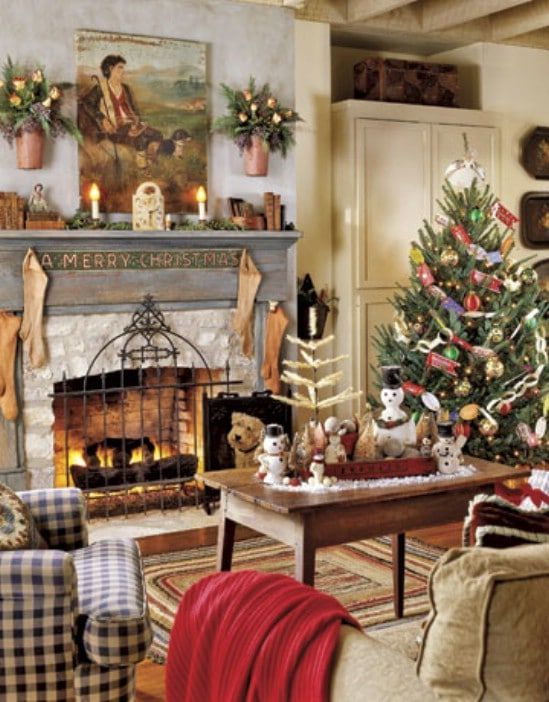 Victorian Inspired - 30 Stunning Ways to Decorate Your Living Room This Christmas