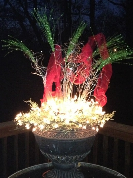 Use Lots of Lights - 60 Beautifully Festive Ways to Decorate Your Porch for Christmas