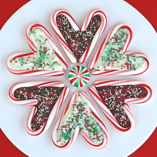 Candy Cane Hearts - 25 Yummy Homemade Christmas Candy Recipes