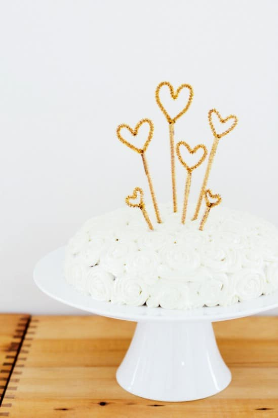 Sparkly Cake Topper - 28 Fun and Easy DIY New Year's Eve Party Ideas