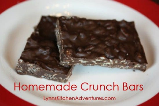 Homemade Crunch Bars - 25 Yummy Homemade Christmas Candy Recipes