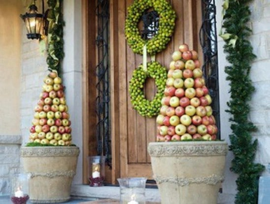 Fruit Topiary - 60 Beautifully Festive Ways to Decorate Your Porch for Christmas