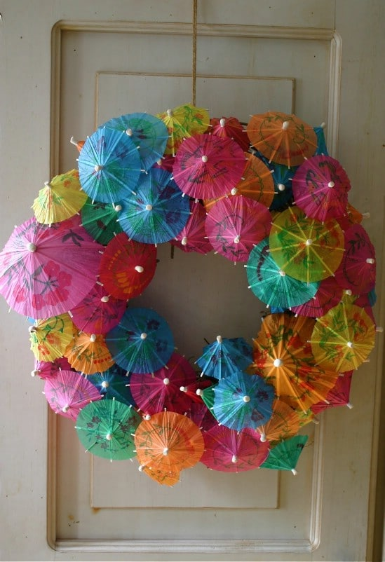 Rainbow Wreath - 28 Fun and Easy DIY New Year's Eve Party Ideas