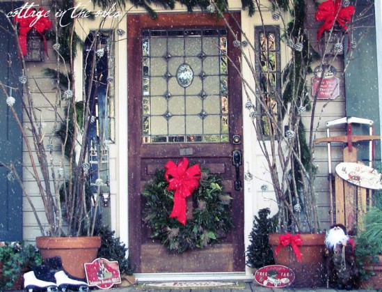 Give It a Snow Globe Look - 60 Beautifully Festive Ways to Decorate Your Porch for Christmas
