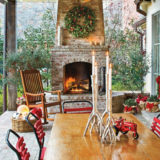 Decorate the Grilling Area - 60 Beautifully Festive Ways to Decorate Your Porch for Christmas