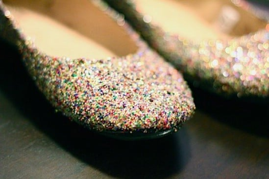 Glitter Flats - 28 Fun and Easy DIY New Year's Eve Party Ideas