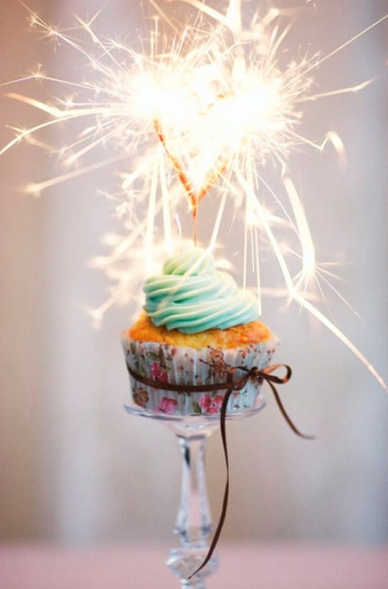 Sparkling Cupcakes - 28 Fun and Easy DIY New Year's Eve Party Ideas