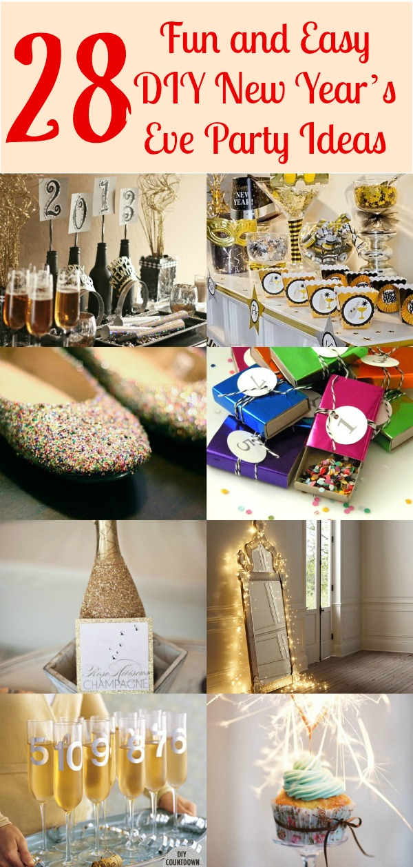 28 fun and easy diy new year s eve party ideas diy crafts