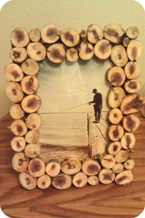 Bon Wooden Picture Frame   40 Rustic Home Decor Ideas You Can Build Yourself